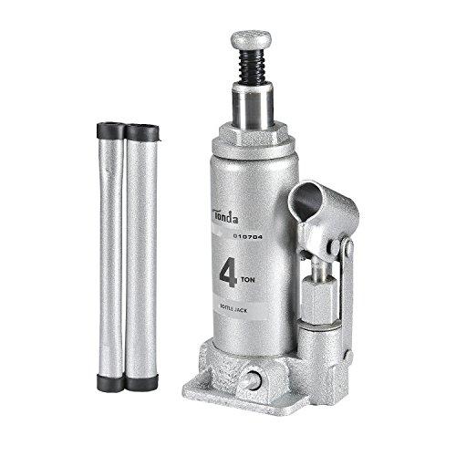 TONDA Hydraulic Bottle Jack Silver, 4 TON