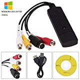 VHS to Digital Converter USB 2.0 Video Converter Audio Capture Card VHS Box VHS VCR TV to Digital Converter Support Win 2000/ Win 10/ Win 7/Win 8 /Win Xp/Win Vista Linux Mac/Android