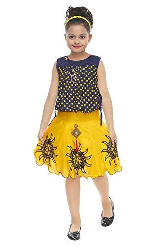 ULTRA TREND Girl's Cotton Sleeveless Midi/Knee Length Party Dress