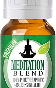 Meditation Essential Oil Blend – 100% Pure Therapeutic Grade Meditation Blend Oil – 10ml