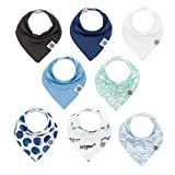 Parker Baby Bandana Drool Bibs – 8 Pack Baby Bibs for Boys, Girls, Unisex -'Arctic Set'