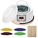 Wax Warmer Hair Removal Waxing Kit [2018 Upgrade] Constant Temperature Setting Electric Wax Heater Pot with 4 Flavors Wax Beans