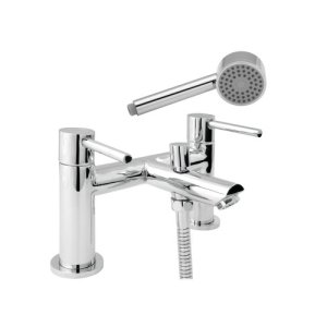 Deva INS106 Insignia Deck Mounted Bath Shower Mixer Tap with Chrome Finish 41hbFterPyL