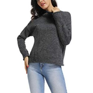 TOYOUTH Turtleneck Sweater Women Long Sleeve Knitted Pullover Designer Sweaters