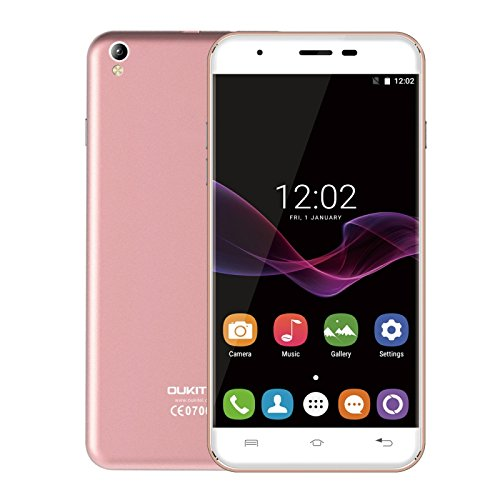 OUKITEL U7 Max 1GB + 8GB 5.5 Inch 2.5D Curved Screen, Android 7.0 OS MT6580A Quad Core 64-bit 1.3GHz WCDMA & GSM (Rose Gold)