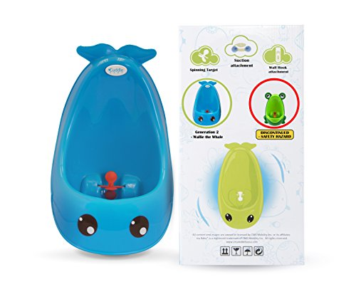 Cuddle Baby Generation II Boy Urinal Potty Toilet Training with FREE Potty Training Game (Bright Blue Whale)