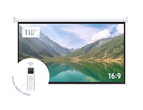 """Homegear 110"""" HD Motorized 16:9 Projector Screen Review"""