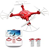 DoDoeleph Syma X5UW FPV RC Drone Quadcopter Drone with 720P HD Wi-Fi Camera Live Video - Altitude Hold,Headless Mode, Gravity Sensor Function,Flight Plan Route,Bonus Battery