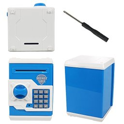 HUSAN-Great-Gift-Toy-for-Kids-Code-Electronic-Piggy-Banks-Mini-ATM-Electronic-Coin-Bank-Box-for-Children-Password-Lock-Case-BlueWhite