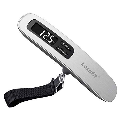 Letsfit Digital Luggage Scale, 110lbs Hanging Baggage Scale with Backlit...