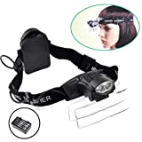 Lighted Head Magnifier Glasses Headset with Led Light Magnifying Head Lamp Headband Loupe Visor Hands-free for Watch Repair Reading Eyelash Hobby Crafts Sewing,1.0X-6.0X, 5 Lenses