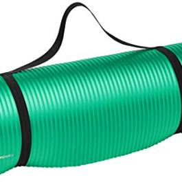 AmazonBasics 13mm Extra Thick Yoga and Exercise Mat with Carrying Strap