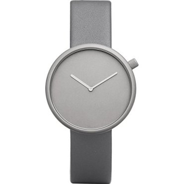 Bulbul Ore 04 Watch, Analog Display Swiss Quartz Watch, Gray Italian Leather Band, Round 39mm Case
