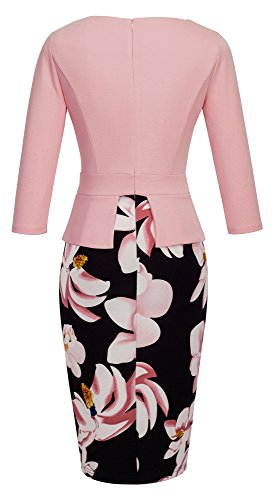 HOMEYEE Women's Elegant Chic Bodycon Formal Dress B288