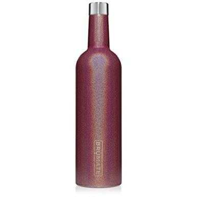 BruMate-Winesulator-25-Oz-Triple-Walled-Insulated-Wine-Canteen-Made-Of-Stainless-Steel-24-hour-Temperature-Retention-Shatterproof-Comes-With-Matching-Silicone-Funnel-Glitter-Merlot