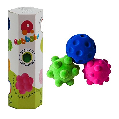 Squishy Baby Ball : Rubbabu 100% Natural Rubber Foam Sensory Balls ? Safe Soft Squishy Baby & Toddler Toy Ball with ...