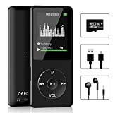 Aigital MP3/MP4 Player with 32 GB Micro SD Card and Support Up to 128GB, MP4 Music Player with FM Radio/E-Book, HiFi Lossless Sound(Built-in Speaker)