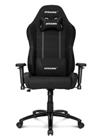 AKRacing K-7 Series Premium Gaming Chair with High Backrest, Recliner, Swivel, Tilt, Rocker and Seat Height Adjustment Mechanisms with 5/10 warranty (Black)