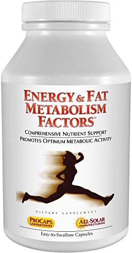 Andrew Lessman Energy & Fat Metabolism Factors 30 Capsules - Promotes Optimum Fat Burning and Energy Metabolism, with Carnitine, Green Tea, Guarana, Ginseng, B-Complex. Easy to Swallow Capsules 1