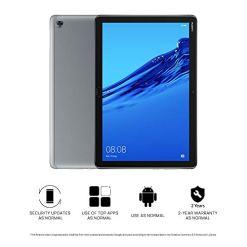 41iAbTno60L - Huawei MediaPad M5 Lite 10-Inch Tablet - Huawei Kirin 659, 3 GB RAM, 32 GB HDD, Mali T830 MP2, Android 8.0 FHD Display- (Grey)