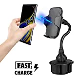 EEEKit Wireless Car Charger Cup Phone Holder Stand Cradle Compatible with iPhone X 8 7 Plus 6 6s Plus Samsung Galaxy S10 S10E S9 S8 S7 S6 Edge Note 9 8