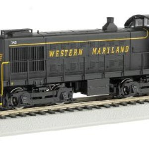 Bachmann Industries Alco S4 Diesel Switcher Dcc Equipped Locomotive Western Maryland #145 (Speed Lettering) N Scale Train Car 41iC4Z3nxYL