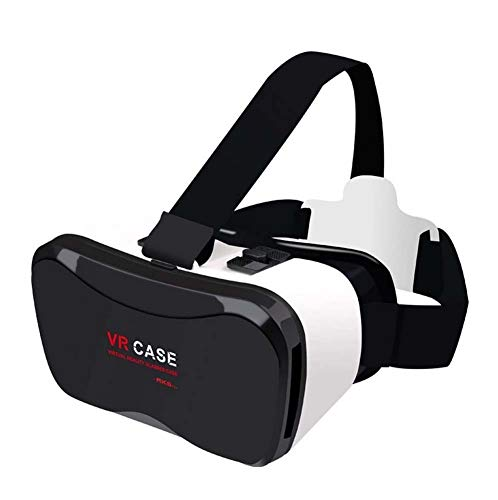 QIDUll VR Headset,4D VR Glasses Virtual Reality Box with Adjustable Lens and Comfortable Strap for 3D Movies and Games,Compatible 4.7''-6'' Smartphones