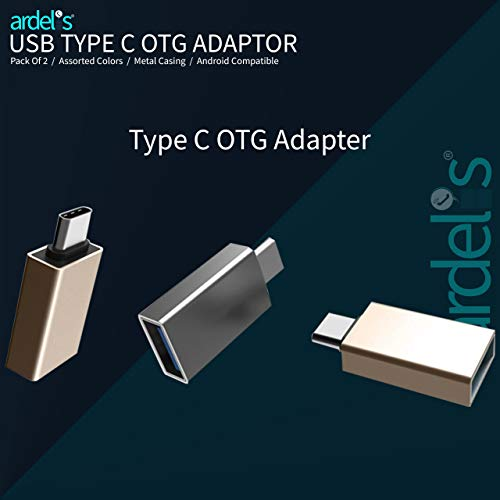 Ardelis Aluminium Metal OTG Adapter for Android, Macbooks, Laptops, Phones & Tablets with USB Type C Port | Samsung, Xiaomi, Sony, Oppo, Vivo, Honor, Redmi | Pack of 2 | Assorted Colours 163