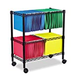 Product review for Alera FW601426BL Two-Tier Rolling File Cart, 26w x14d x 30h, Black