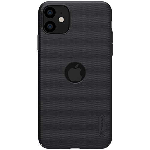Nillkin Frosted Shield Ultra Thin Hard Matte Plastic Back Cover Case for Apple iPhone 11- Black (with Logo Cutout) 230