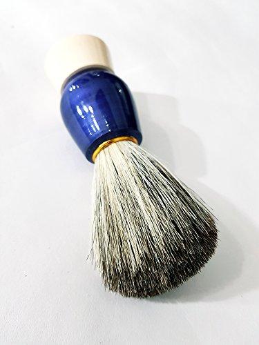 Natural Wood Handle Soft Bristle Shaving Brush for Men Salon Hairdressing Hair Beard Cutting Dust Cleansing Tool- Beard Shaving Brush (Blue) 11