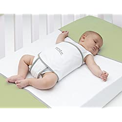 Reste Safe Sleep Swaddle Blanket for Crib Safety for Newborns and Infants – Safe, Anti-Rollover Blanket - White