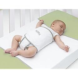 Reste Safe Sleep Swaddle Blanket for Crib Safety for Newborns and Infants – Safe, Anti-Rollover Blanket - White