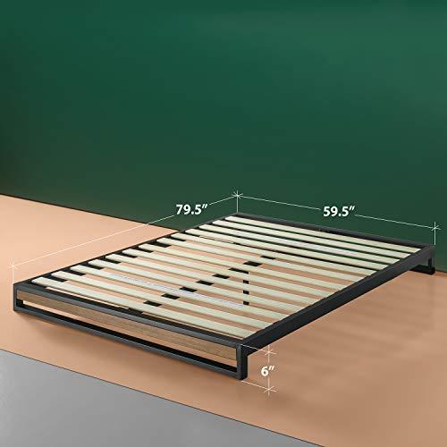 Zinus 6in Ironline Platform Bed Without Headboard Queen