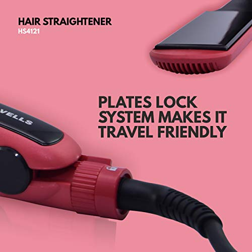 Havells hs4121 wide plate hair straightener with digital display & adjustable temperature, heats up fast ( red) | latest news live | find the all top headlines, breaking news for free online april 5, 2021