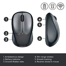 Logitech-M235-Wireless-Mouse-24-GHz-with-USB-Unifying-Receiver-1000-DPI-Optical-Tracking-12-Month-Life-Battery-Compatible-with-Windows-Mac-ChromebookPCLaptop-BlackGrey