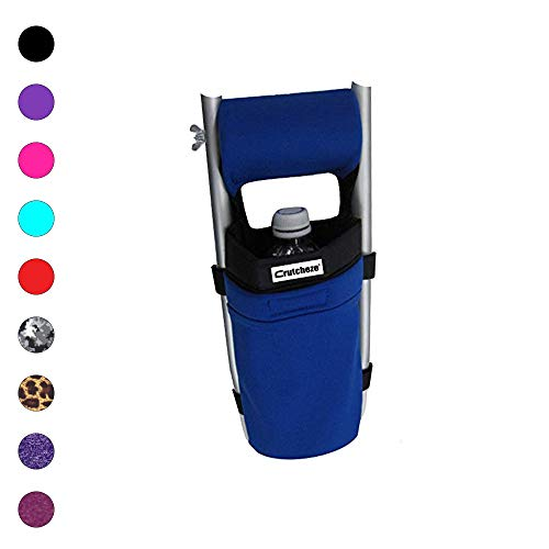 Crutcheze Royal Blue Crutch Bag, Pouch, Pocket, Tote Washable Designer Fashion Orthopedic Products Accessories