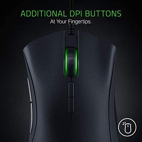 Amazon Com Razer Deathadder Elite Gaming Mouse 16 000 Dpi Optical Sensor Chroma Rgb Lighting 7 Programmable Buttons Mechanical Switches Rubber Side Grips Matte Black Computers Accessories