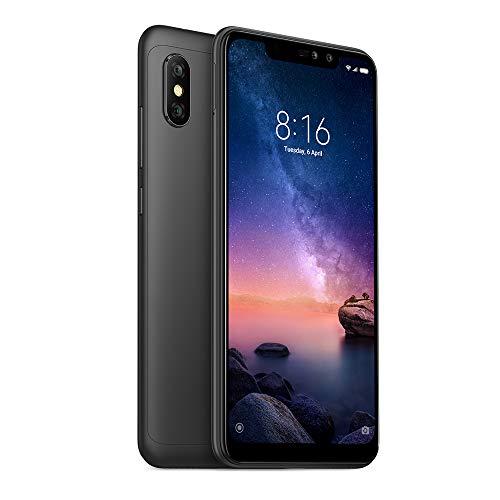 "Xiaomi Redmi Note 6 Pro 64GB + 4GB RAM 6.26"" Dual Camera LTE Factory Unlocked Smartphone - Global Version (Black)"