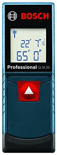 Bosch GLM 20 Compact Blaze Laser Distance Measure, 65'
