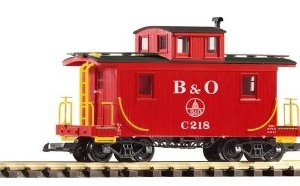 PIKO G SCALE MODEL TRAINS – B & O WOOD CABOOSE, RED – 38827 by Piko 41iiYAaEhRL