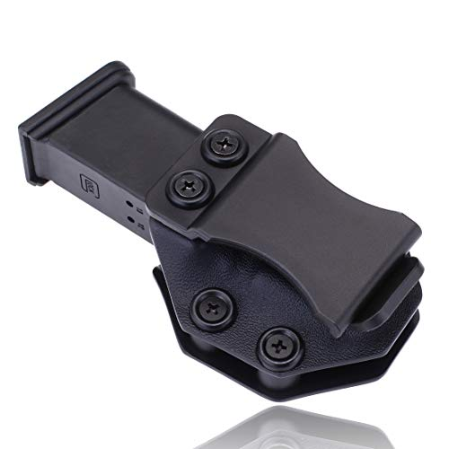 Iwb Magazine Kydex Holster Mag Carrier Pouch Holder for Glock 17 19 22 23 26 27 31 32 43 Inside The Waistband Concealed Carry 9mm Magazine Clip (Glock 19/23/32, Right Hand IWB)