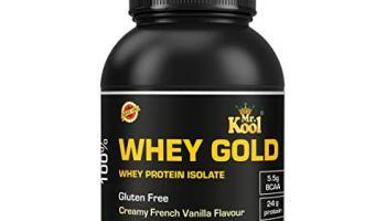 MR KOOL Whey Protein 1 Kg Isolate 80%   Protein 24g & BCAA 5.5g   Gluten-Free   French Vanilla