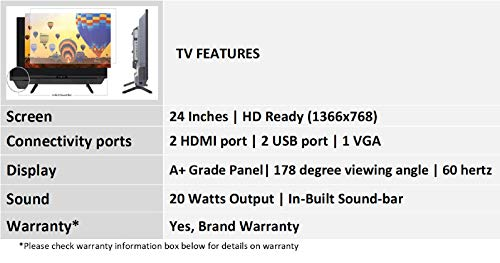 Kevin 61 cm (24 Inches) HD Ready LED TV K24STG (Black) 4