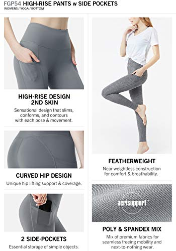 Tsla yoga pants high waist tummy control with hidden pocket