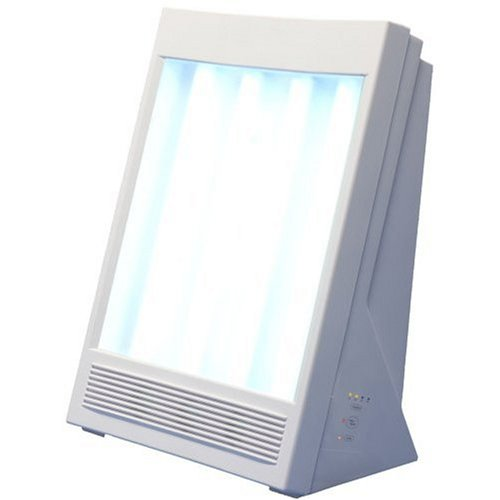 Nature Bright - Sun Touch Plus -10000 LUX Light Therapy Lamp - UV-Free Light Mimics Sunlight - Daylight Lamp - Built-in Personal Air Purifier - Light Therapy - Enhances Mood - 13'H x 9'W x 6'D