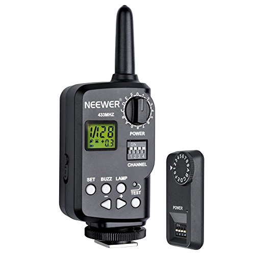 Neewer 433MHz Wireless 16 Channel Flash Remote Trigger with Receiver for TT850, TT860 Speedlite and Godox V850, V860 Speedlite