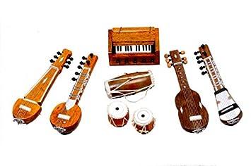 Univ Handmade Miniature Musical Instruments Decorative Showpieces Set Brown Amazon In Home Kitchen