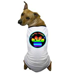 CafePress – I Love My Mommies Dog Tee Dog T-Shirt – Dog T-Shirt, Pet Clothing, Funny Dog Costume