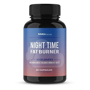 MAV Nutrition Weight Loss Pills Night Time Fat Burner for Women & Men   Sleep Aid Diet Pills, Appetite Suppressant… 24